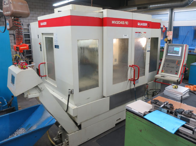 CNC vertical machining centres QUASER MV-204 II / 10