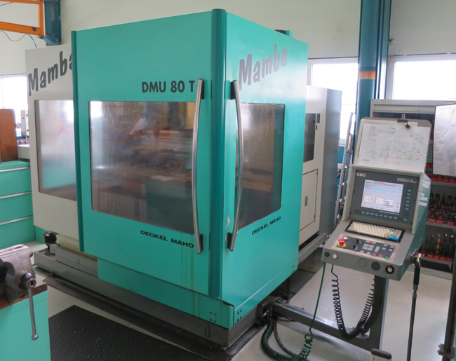CNC vertical machining centres DMG DMU 80T