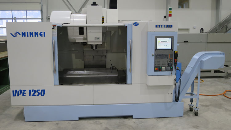 CNC vertical machining centres NIKKEI VPE-1250